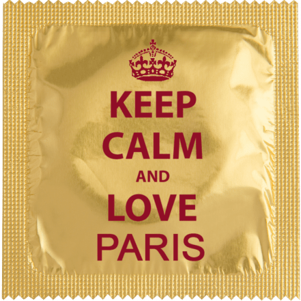 Preservatif Keep Calm & Love Paris