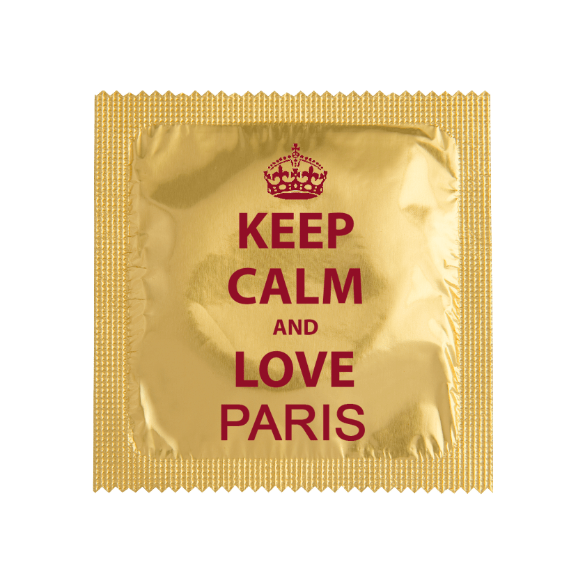 Préservatifs Keep Calm & Love Paris