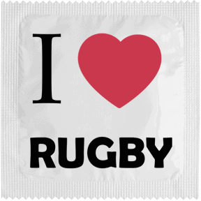 Condom I LOVE RUGBY