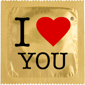 Préservatif I LOVE YOU