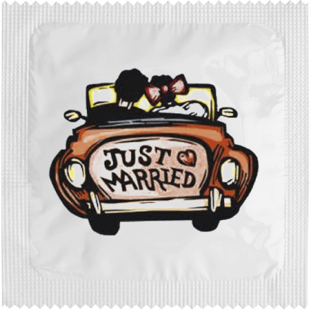 Préservatif JUST MARRIED (voiture)