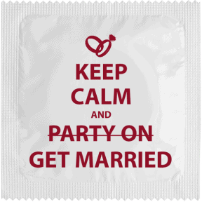Condom KEEP CALM AND GET MARRIED