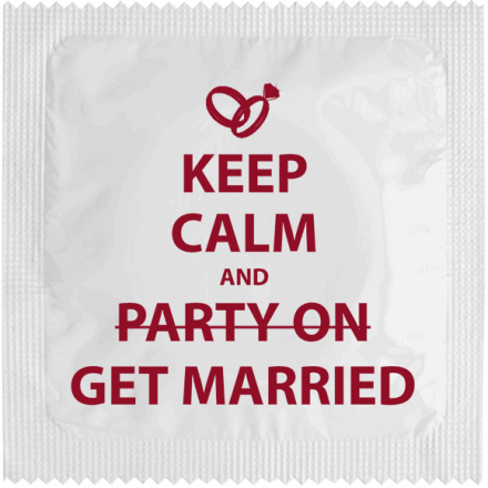 Préservatif KEEP CALM AND MARRY ON