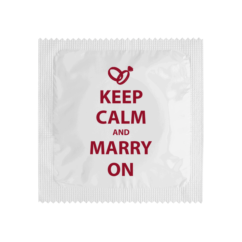 Condom KEEP CALM AND MARRY ON