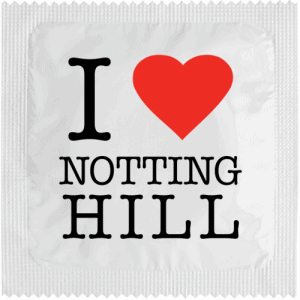 PrŽservatif Callvin I LOVE NOTHING HILL BLANC