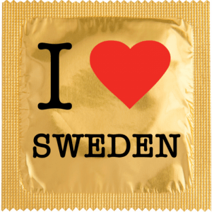 PrŽservatif Callvin I LOVE SWEDEN OR