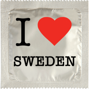 PrŽservatif Callvin I LOVE SWEDEN CHROME