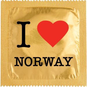 PrŽservatif Callvin I LOVE NORWAY OR