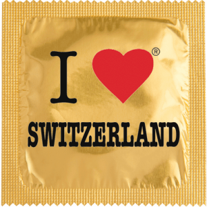 PrŽservatif Callvin I LOVE SWITZERLAND OR