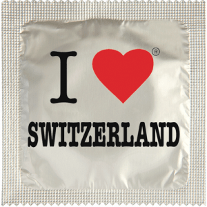 PrŽservatif Callvin I LOVE SWITZERLAND CHROME