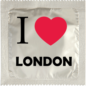 PrŽservatif Callvin I LOVE LONDON CHROME