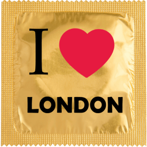 PrŽservatif Callvin I LOVE LONDON OR