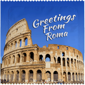 PrŽservatif Callvin GREETINGS FROM ROMA