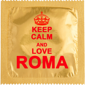 PrŽservatif Callvin KEEP CALM AND LOVE ROMA