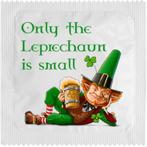 PrŽservatif Callvin ONLY THE LEPRECHAUN IS SMALL