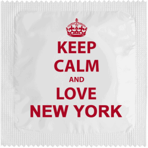 PrŽservatif Callvin KEEP CALM AND LOVE NEW YORK