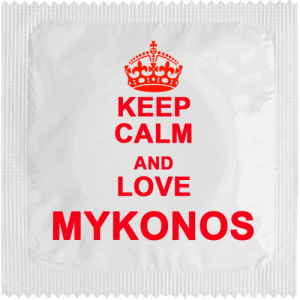PrŽservatif Callvin Keep Calm And Love Mykonos