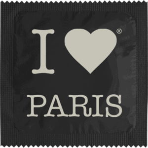 I Love Paris Noir (impression Argent)
