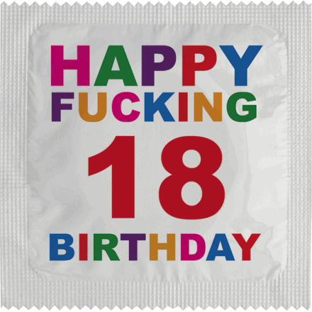 Condom Happy Fucking Birthday 18