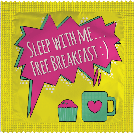 Préservatif Sleep With Me... Free Breakfast