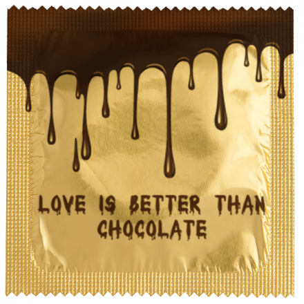Condom LOVE IS BETTER THAN CHOCOLATE