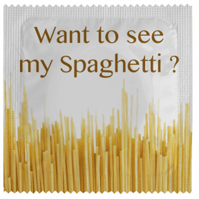 Préservatif Want to see my Spaghetti ?
