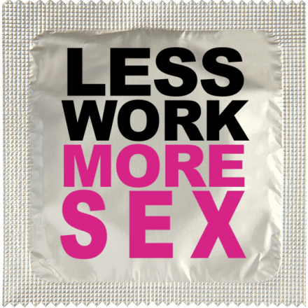 Préservatif Less Work More Sex