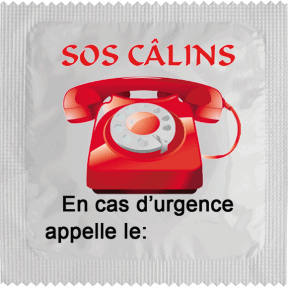 Condom SOS Câlins for customization
