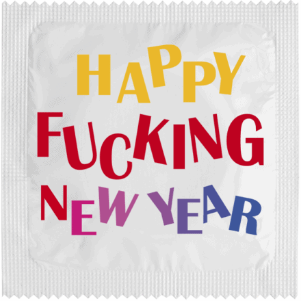 Préservatif HAPPY FUCKING NEW YEAR